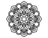 Disegno di Mandala incontro da colorare