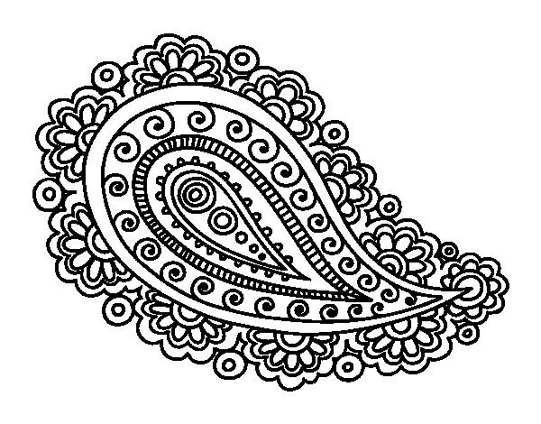 Disegno di mandala lacrima da colorare for Disfare la valigia in inglese
