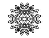 Disegno di Mandala lampeggia da colorare