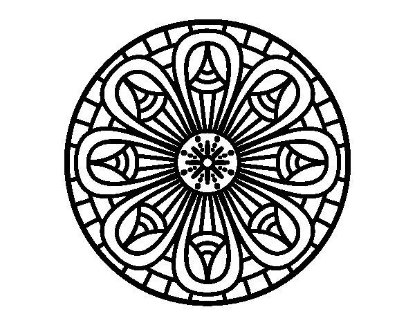 Disegno di Mandala matite da Colorare