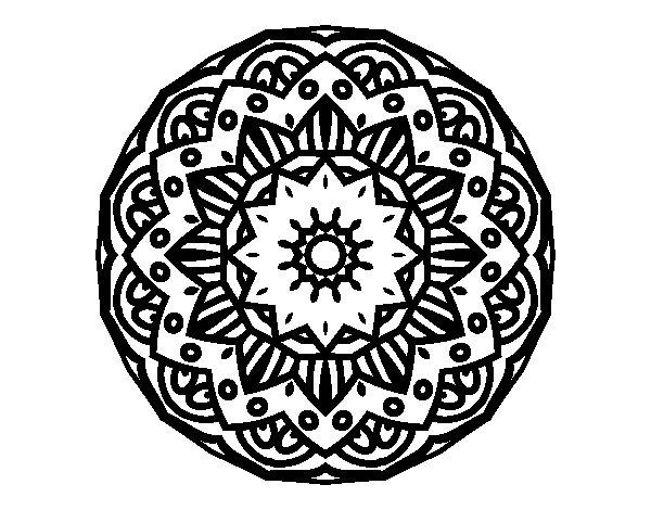 Disegno di Mandala modernista da Colorare