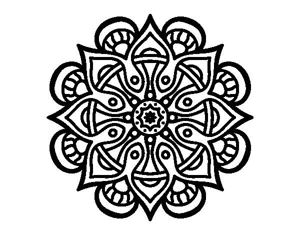 Disegno di mandala mondo arabo da colorare for Disegni di mandala semplici