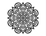 Disegno di Mandala mondo arabo da colorare
