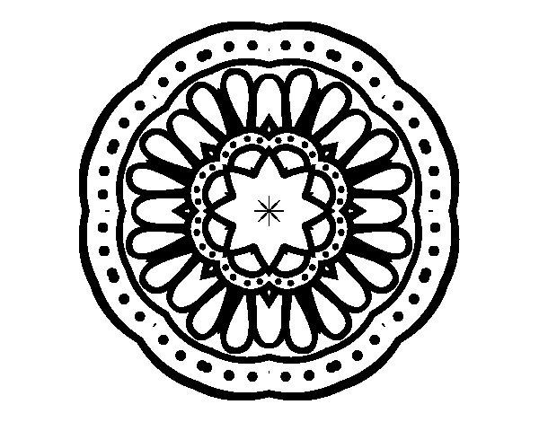 Disegno di Mandala mosaico da Colorare