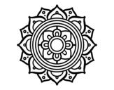 Disegno di Mandala mosaico greco da colorare
