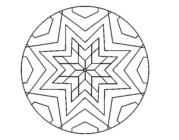 mandala stelle disegni da colorare