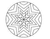 Disegno di Mandala mosaico stelle da colorare
