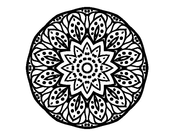 Disegno di Mandala natura da Colorare