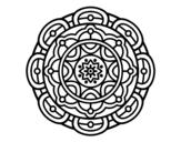 Disegno di Mandala per il rilassamento mentale da colorare