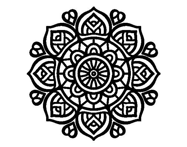 Disegno di mandala per la concentrazione mentale da for Disegni di mandala semplici