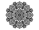 Disegno di Mandala per la concentrazione mentale da colorare