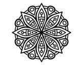 Disegno di Mandala per la concentrazione da colorare