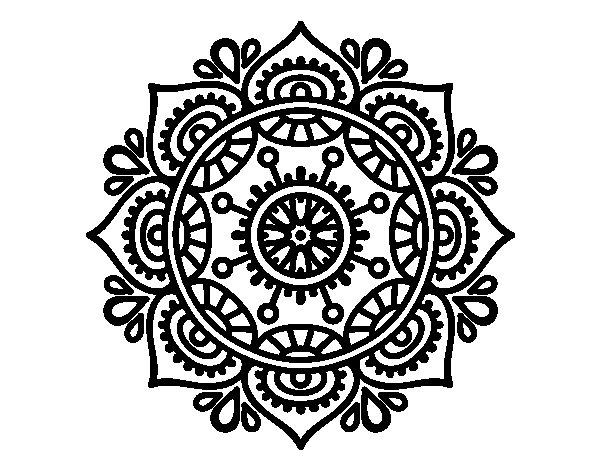 Disegno di mandala per rilassarsi da colorare for Disegni di mandala semplici