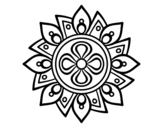 Disegno di Mandala semplice fiore da colorare