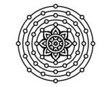 Disegno di Mandala sistema solare da colorare