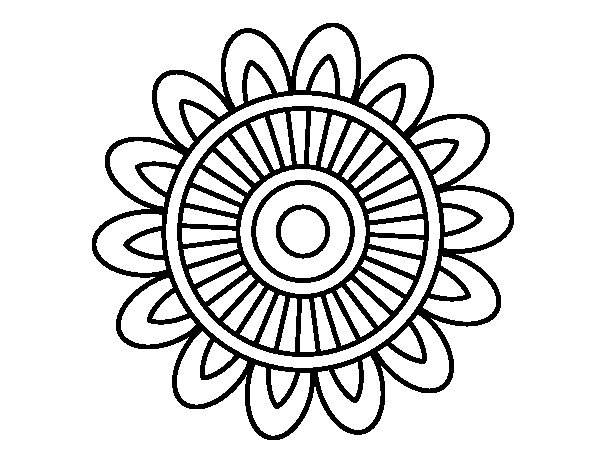 Disegno di Mandala solare da Colorare