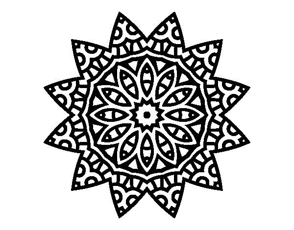 Disegno di Mandala stella da Colorare