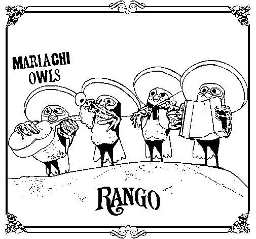 Disegno di Mariachi Owls da Colorare