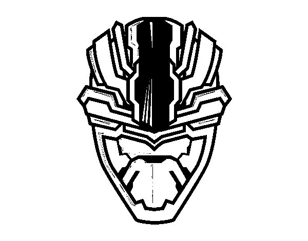 Disegno di Maschera alien da Colorare