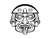 Disegno di Maschera azteca da colorare