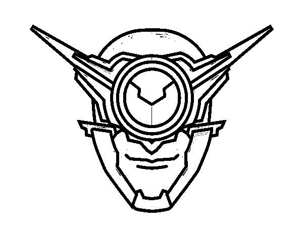 Disegno di Maschera ciclope da Colorare