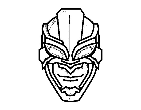 Disegno di Maschera di supereroe da Colorare