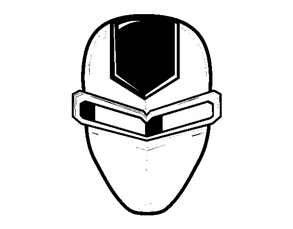Disegno di Maschera ironman da Colorare