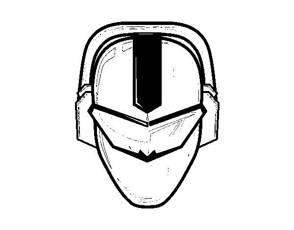 Disegno di Maschera power ranger da Colorare