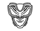 Disegno di Maschera raggi X da colorare