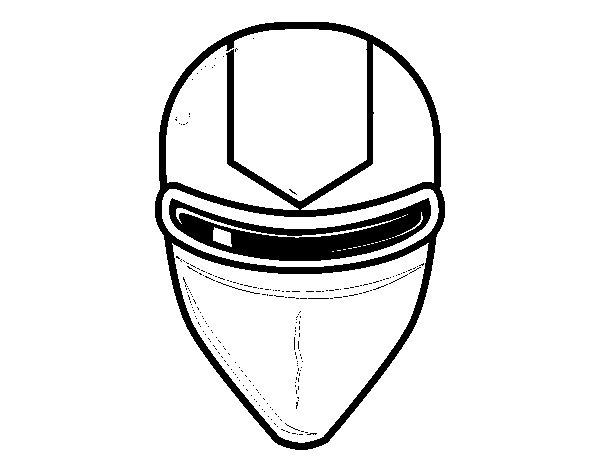 Disegno di Maschera raggio laser da Colorare