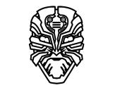 Disegno di Maschera robot alien da colorare