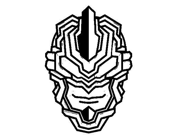 Disegno di Maschera robot da Colorare