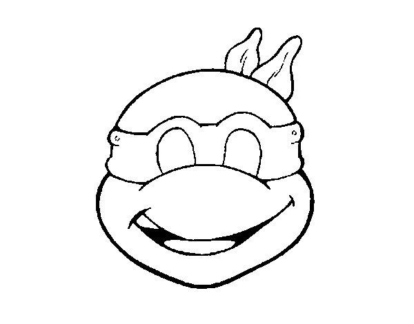 Disegno di Maschera Tartarughe Ninja da Colorare