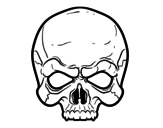 Disegno di Maschera teschio da colorare