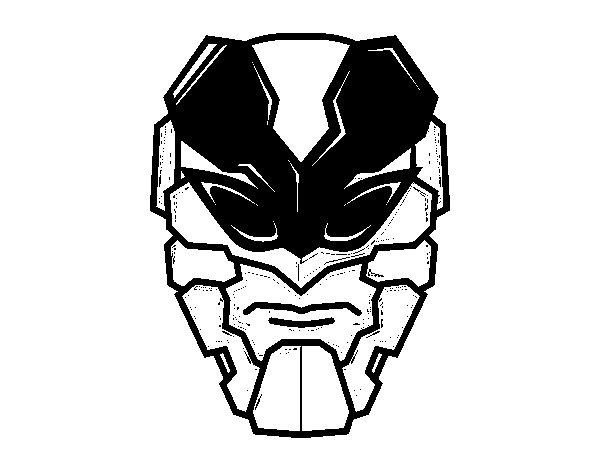 Disegno di Maschera uomo ape da Colorare