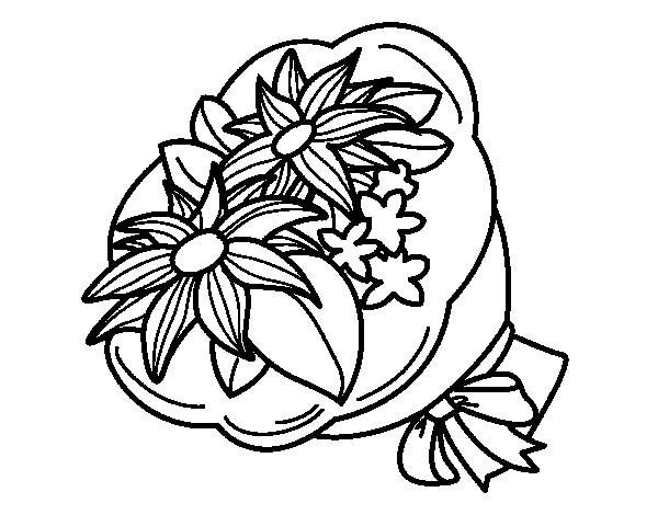 Mazzo Di Fiori Da Colorare: Disegno Di Mazzo Di Chrysanthemum Da Colorare