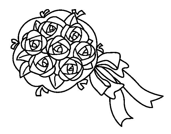 Disegno di mazzo di gardenie da colorare - Immagini da colorare di rose ...