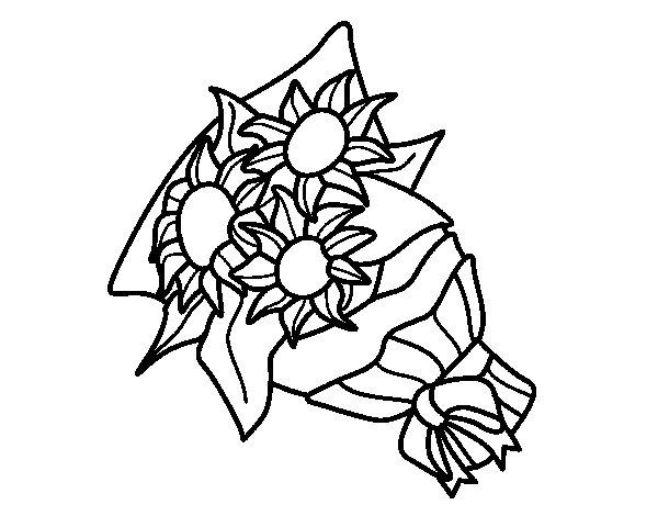 Conosciuto Disegno di Mazzo di girasoli da Colorare - Acolore.com KM41