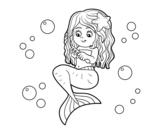 Disegno di Mermaid a pettinarsi i capelli da colorare