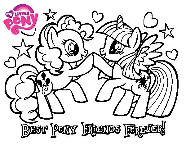Disegno di migliori poni amici per sempre da colorare - Amici di letto in inglese ...