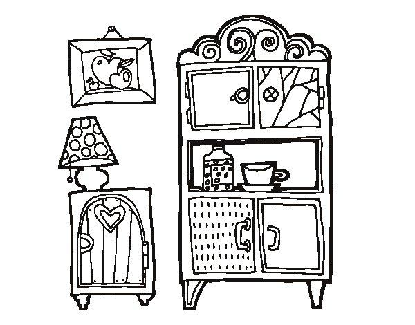 Disegno di mobili soggiorno da colorare - Colorare i mobili ...