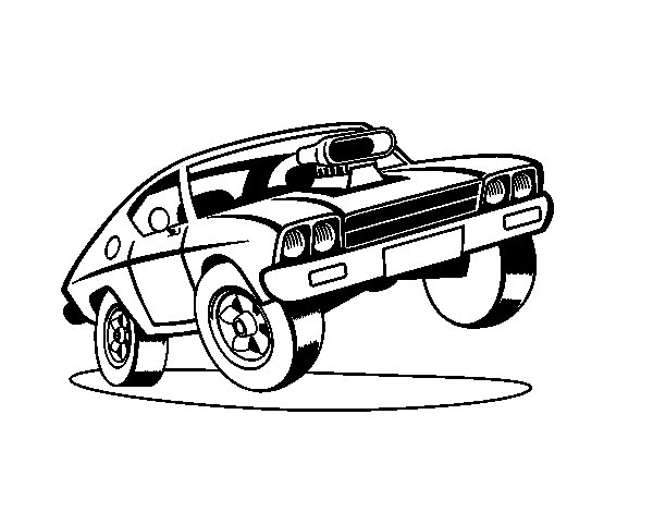 Disegno di Muscle car da Colorare
