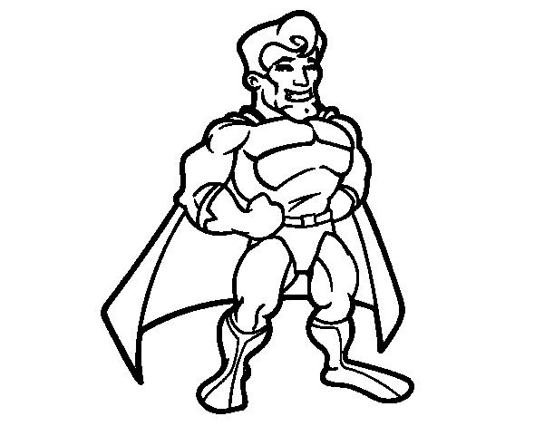 Disegno di muscoloso supereroe da colorare for Disegni da colorare supereroi