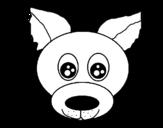Disegno di Muso di cagnolino da colorare
