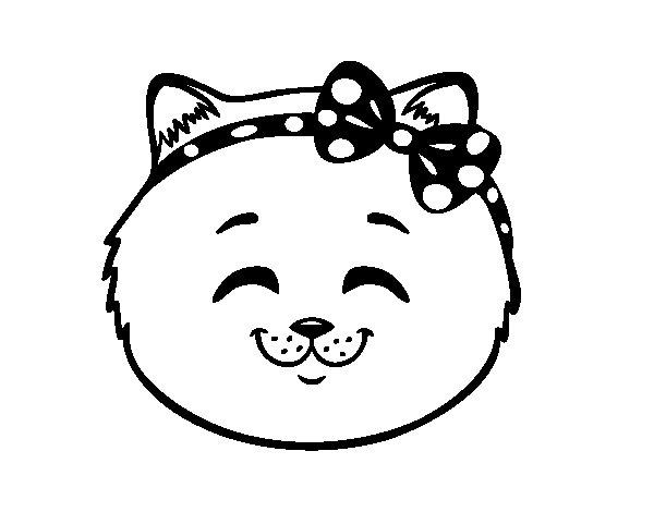 Disegno di Muso di micia felice da Colorare