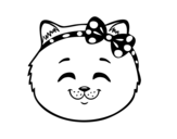 Dibujo de Muso di micia felice