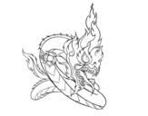 Disegno di Naga da colorare