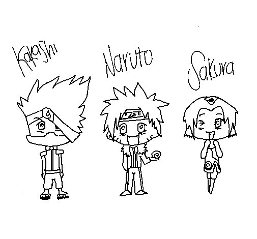 Disegno di Naruto da Colorare