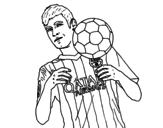 Disegno di Neymar Barça da colorare