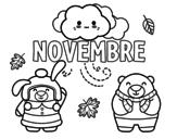 Disegno di Novembre da colorare
